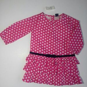 NWT Gap Long Sleeve Dress Size 2 years polka dot